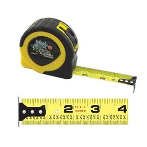 Rubberized Power Tape Measure w/ Laminated or Dome Label (25'x1