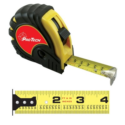 "HD English/Metric Power Tape Measure w/Laminate or Dome Label (25'x1"")"