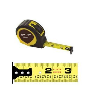 Rubberized Power Tape Measure w/Laminated or Dome Label (12'x5/8