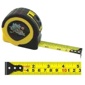 English/ Metric Power Tape Measure w/Laminated or Dome Label (25' Blade)